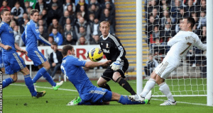 Full Time ya Swansea vs Chelsea April 13 2014.