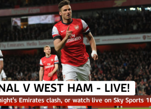 Full Time ya Arsenal vs West Ham April 15 2014