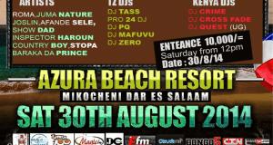 Ukiwa Dar es salaam weekend hii, nakutonya kuhusu hii beach party Jumamosi hii