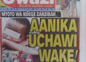Stori kubwa magazetini leo Sept 23 2014 Udaku, Michezo na Hardnews