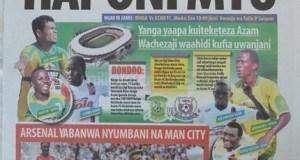 Na haya ndio makubwa yaliyoandikwa na Magazeti ya leo Sept 14 Tanzania