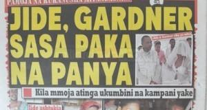 Stori kubwa magazetini leo Sept 18 2014 Udaku, Michezo na Hardnews