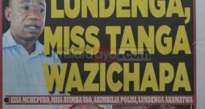 Stori kubwa magazetini leo Sept 6 2014 Udaku, Michezo na Hardnews