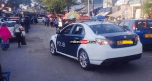 Pichaz za magari mapya ya Polisi mtaani Dar es salaam.