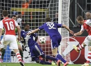 Video: Angalia magoli ya Arsenal vs Anderlecht