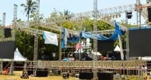 Maandalizi ya mwisho ya Jukwaa la Serengeti Fiesta Dar es salaam.