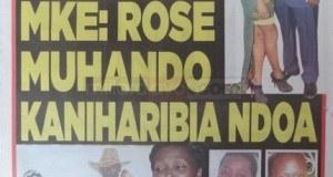 Magazeti ya leo October 18 2014 Udaku, Michezo na Hardnews
