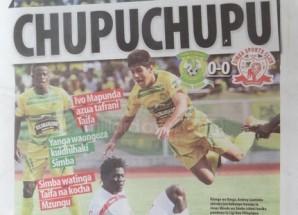 Kurasa za mwanzo na mwisho magazetini leo October 19 2014