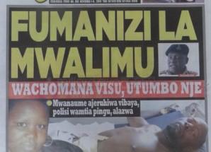 Magazeti ya leo Nov 1 2014 Udaku, Michezo na Hardnews