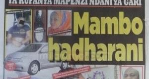 Magazeti ya leo Nov 22 2014 Udaku, Michezo na Hardnews