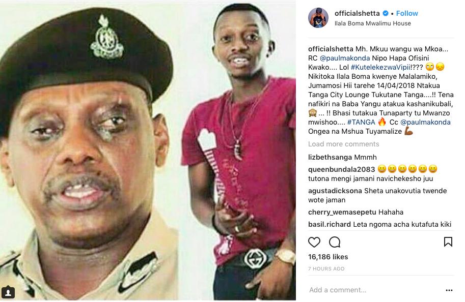 utani alioufanya Shetta kwa Mstaafu Kamanda Kova Screen-Shot-2018-04-11-at-7.24.13-PM