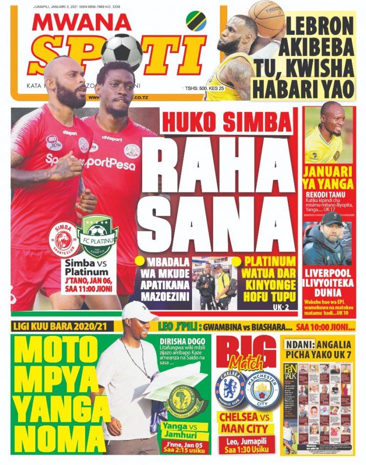 Habari kubwa za Magazeti ya Tanzania leo January 3, 2021