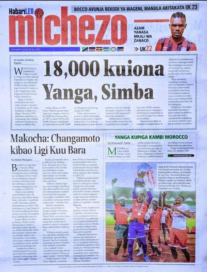 Magazeti Ya Leo 21 July 2021 - Today's Newspapers